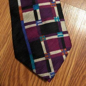 Vintage Bugatti Purple Patterned Necktie